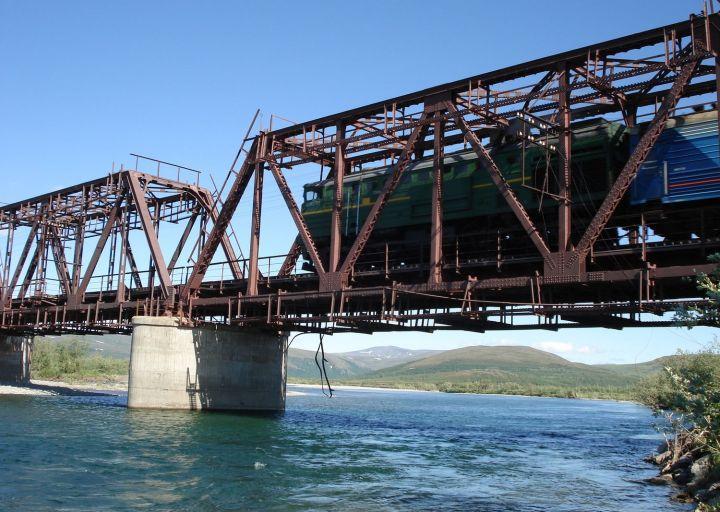 ЖД мост через Пайпудыну