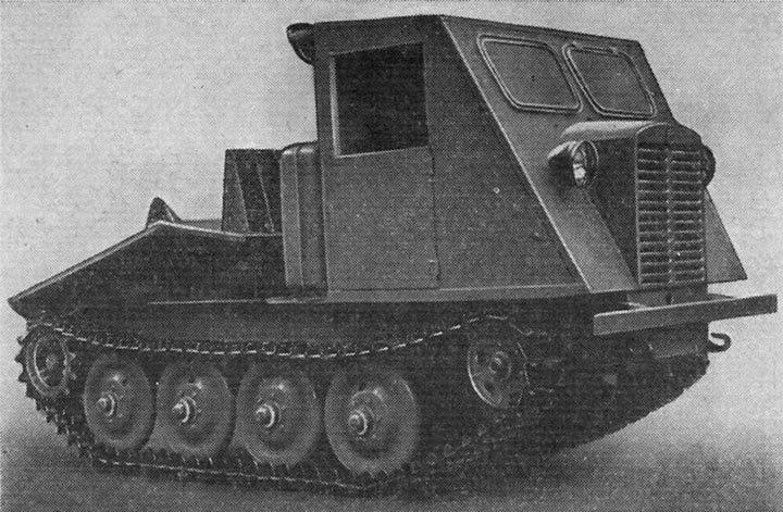 Общий вид трактора ТДТ-40 1954 г