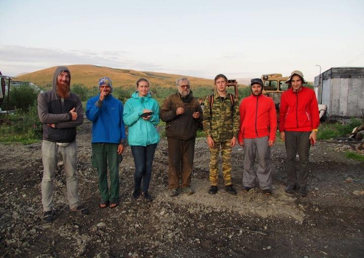 С группой туристов, интересующихся геологией