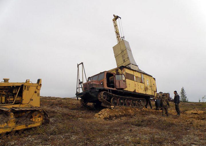 УКБ-3СТ-Э установлен на точку бурения второй скважины 2011 года ИМГРЭ - Полярная надежда