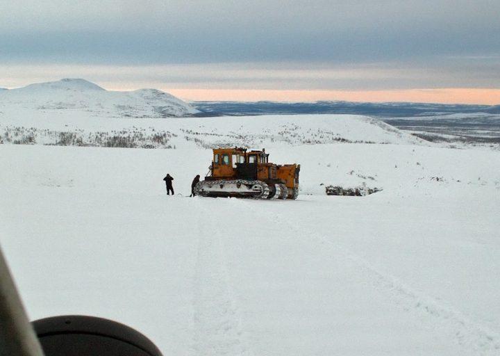 Трактора ПУГГП на Погурейском блоке