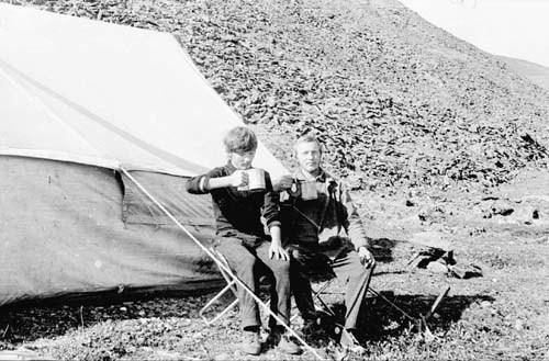 Юрик Ухалов и я в лагере
