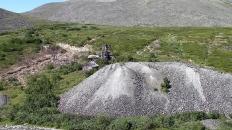 Шахта молибденитового рудника