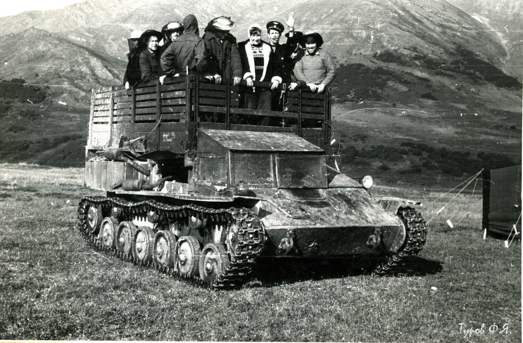 Вездеход из САУ-76. Большая Хадата. 1961