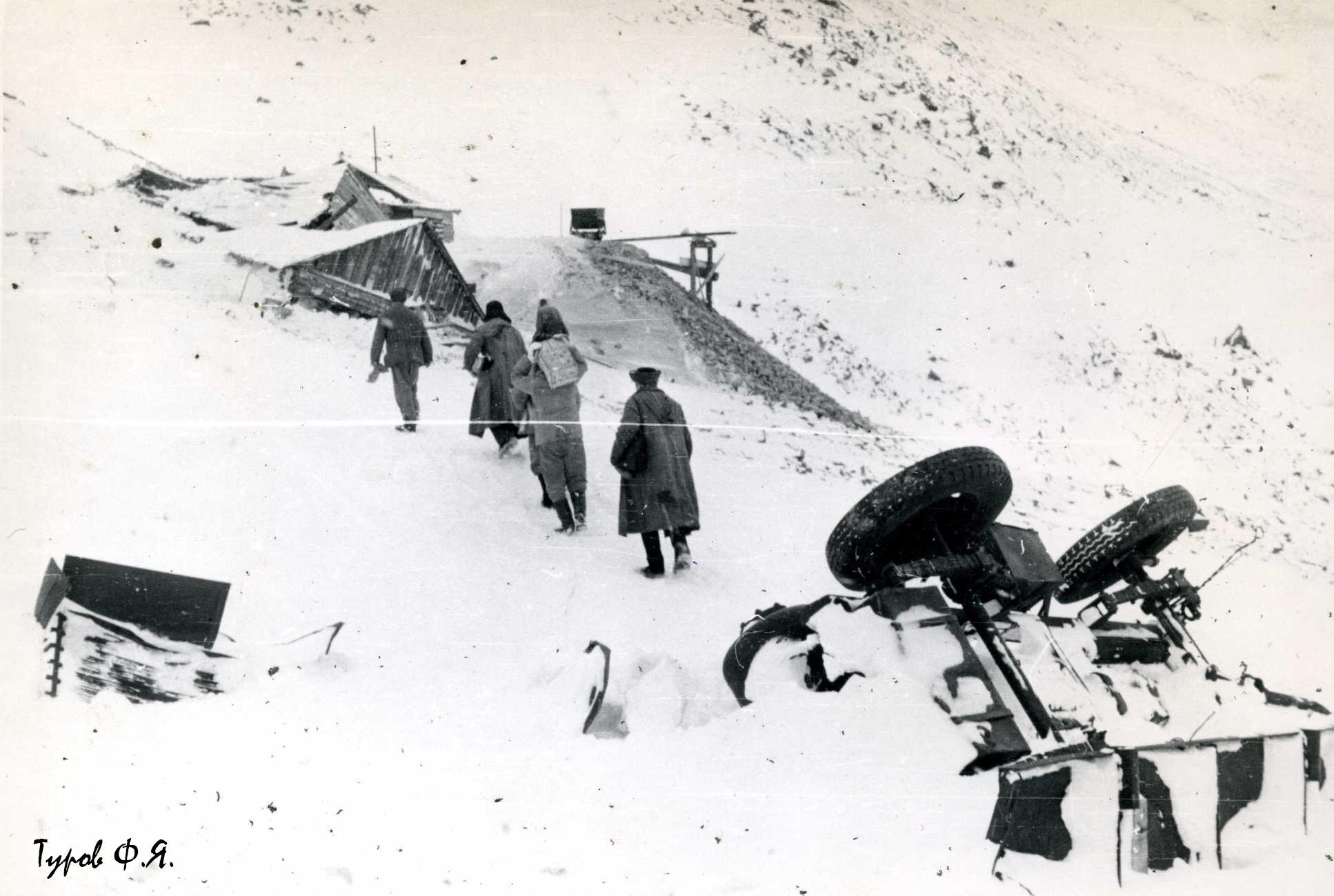 Штольня Базисного в Сланцевом на Харбее 1961