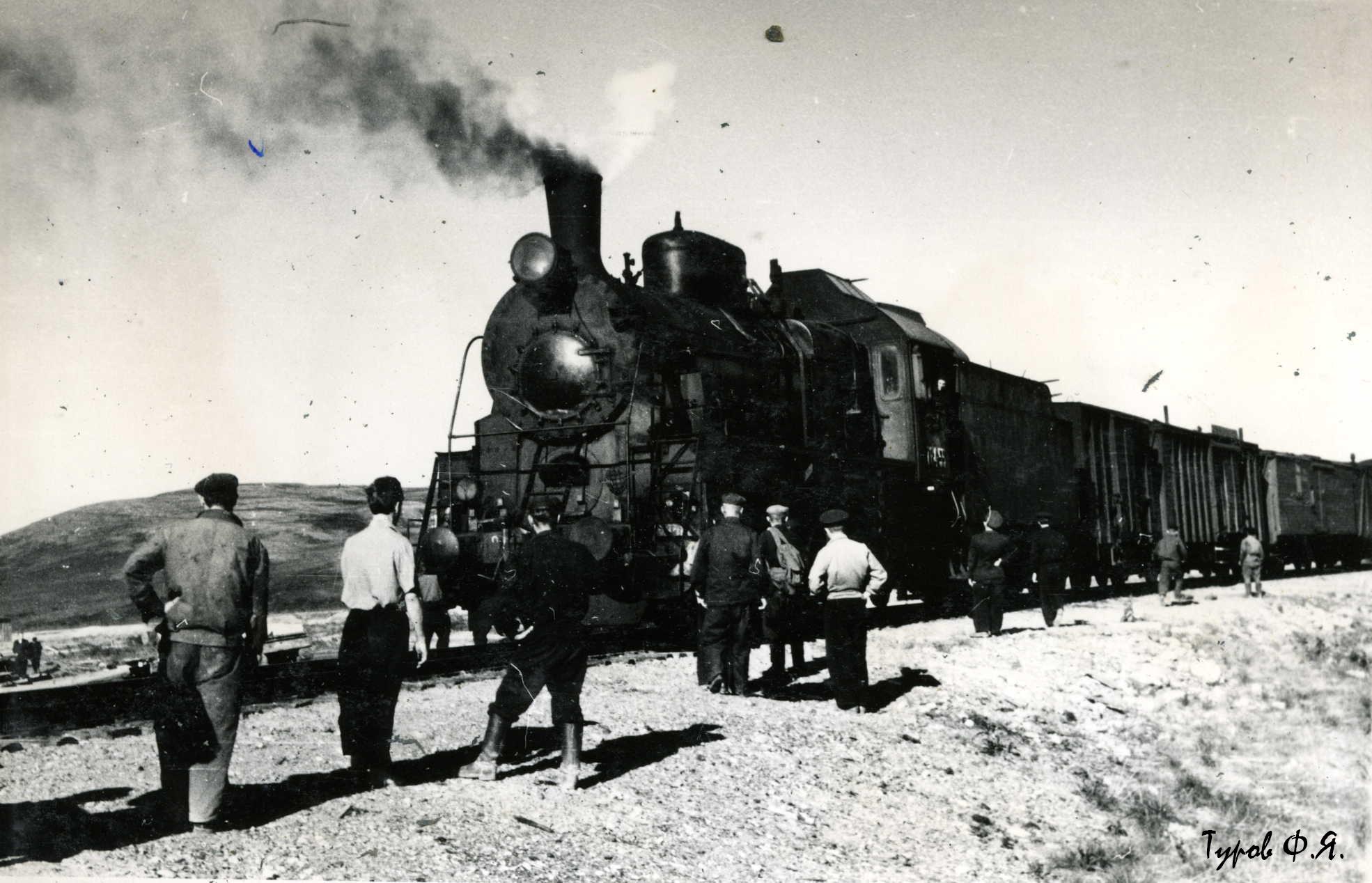 Прибытие пригородного Лабытнанги - Воркута на Полярный в 1961