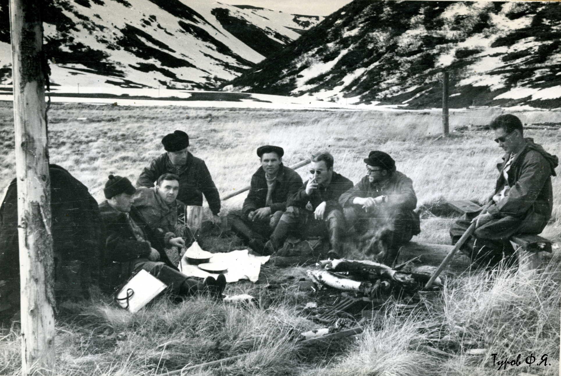 Привал на обочине Харбейской дороги в 1961