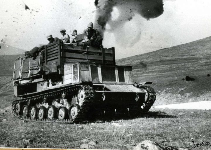 Третий вездеход на базе САУ-76 на Харбее. 1961