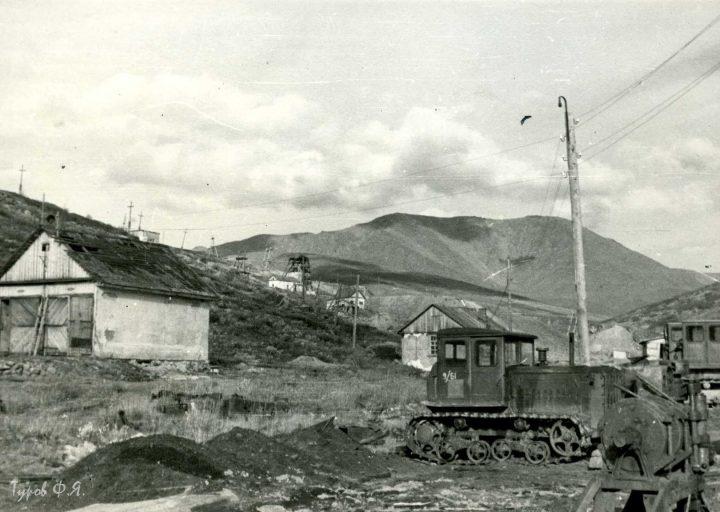 Вид на горный участок от мехцеха в 1961