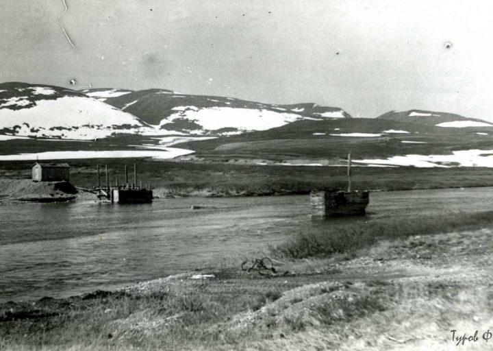 Остатки моста через Большую Пайпудыну в 1961
