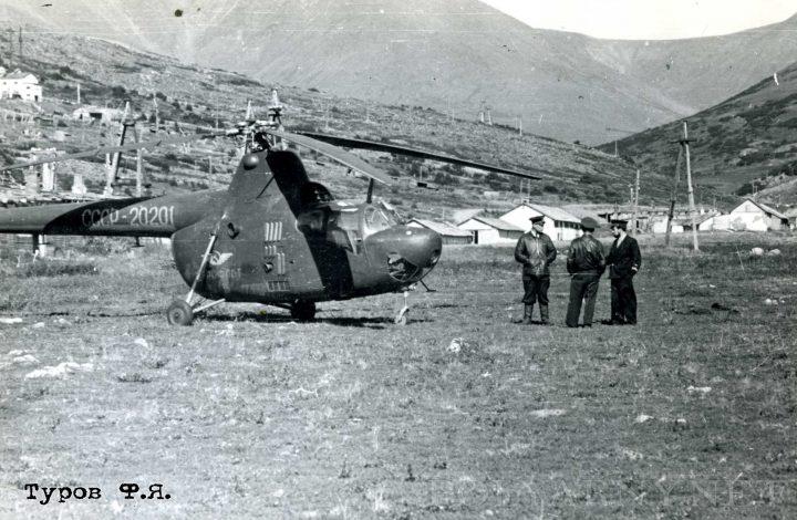 Базировка группы Ми-1 на Харбее в 1961