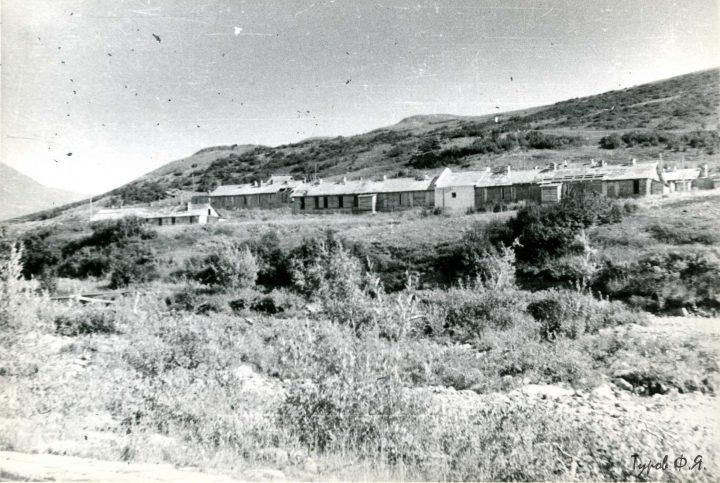 Лагерный пункт на Харбейском месторождении в 1962