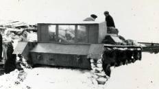 Погрузка багажа в САУ-76 в тупике Полярного в 1961