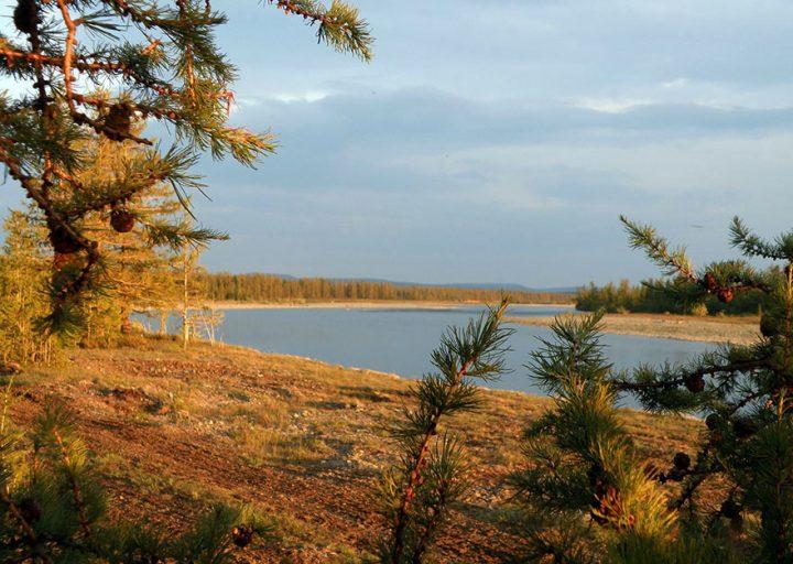 Река Большая Лагорта у подбазы ПУГГП