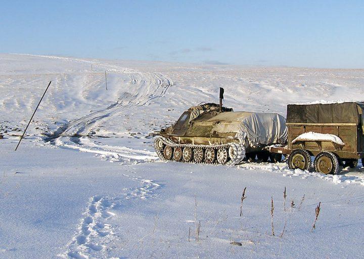 Зимний Харбейский перевал
