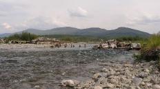 Деревянный мост через Пайпудыну.