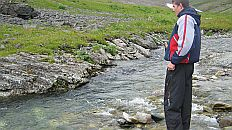 Рыбалка на ручье