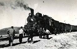Прибытие пригородного Лабытнанги – Воркута на 106-й км в 1962 г