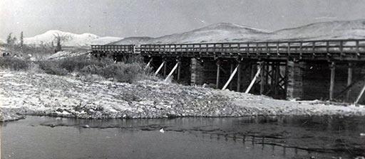 «Деревянный мост» через М.Пайпудыну 1961 г