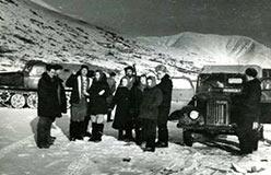 Прибытие геологов ЦУП Шабровской экспедиции на Харбей 1961