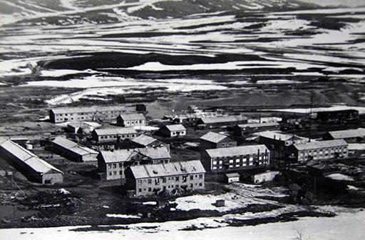 Поселок Полярный в конце 70-х годов