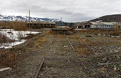 Тупик со времен железнодорожного строительства. 2009 год