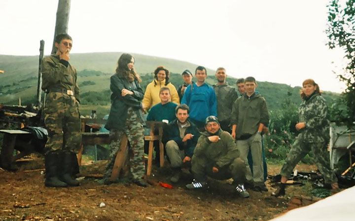 Отряд горно-поисковых работ на Харбее. Лагерный пункт 37. Харбей, 2004