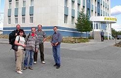 Рядом со зданием Ямальских геофизиков