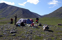 Лагерь в верховьях Харбея