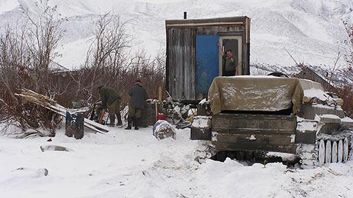 Лагерь поисковых горных работ на Молибденитовой. 16.10.2006
