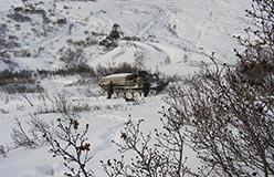 Начало попытки приближения к участку горных работ Амональный на ГАЗ-71. 19.10.2006