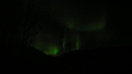 Ночное небо над Молибденитовой. Северное сияние. 20.10.2006
