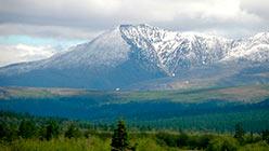Гора Собачье Ухо (Понпельиз) в свежем снегу