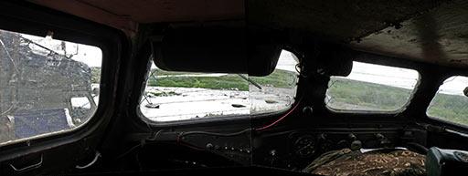 В кабине ГТ-Т2 на Правом Кечпеле. 06.08.2015