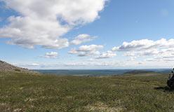 Вид долины Танью с водораздела Хойлы и Правой Пайеры. 08.08.2015
