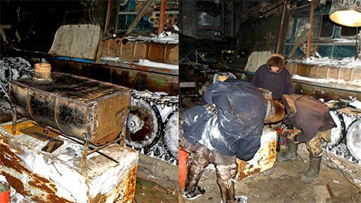 Печь для чума из бочкотары на заказ по проекту оленеводов