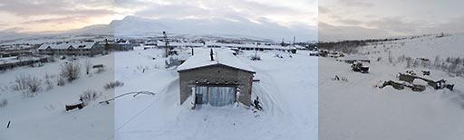 Дизельная электростанция и пос. Полярный. 21 декабря 2015