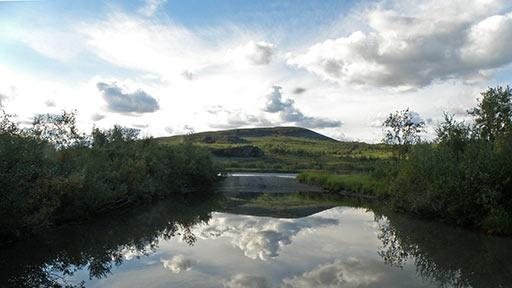 На переезде через реку Собь