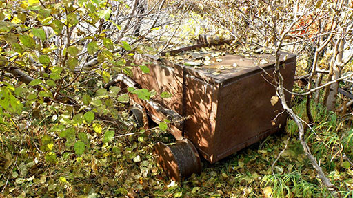 Скиповая вагонетка из наклонного шурфа №8