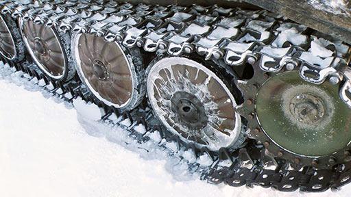 Дыра в крышке первого правого катка ГТ-Т