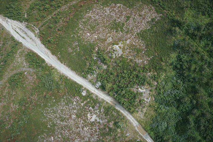 Кладбище Полярного с высоты 300 метров. Кадр 1