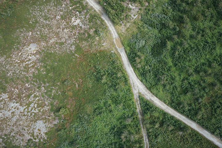 Кладбище Полярного с высоты 300 метров. Кадр 2