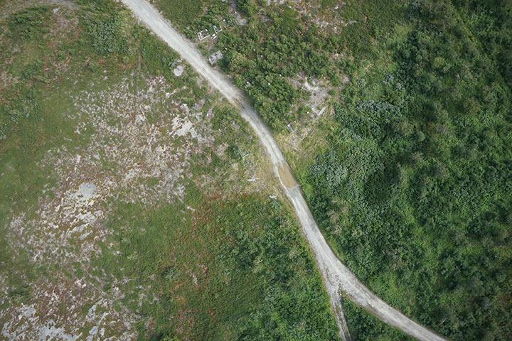 Кладбище Полярного с высоты 300 метров. Кадр 3