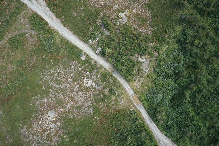 Кладбище Полярного с высоты 300 метров. Кадр 4