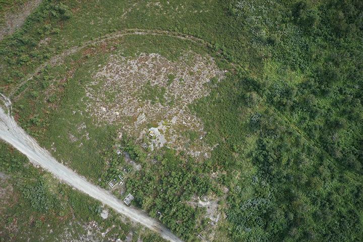 Кладбище Полярного с высоты 300 метров. Кадр 5