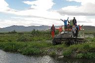 Заброска группы байдарочников из Минска в верховья Танью