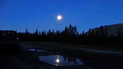 Августовской ночью на знаменитой поляне перед устьем Вост. Нырдвоменшора. 12 августа 2014 г