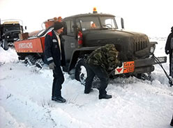 Движение колесных машин по снежной целине