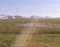 Елец уходит в горы перед Полярно-Уральским водоразделом