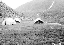 Лагерь на Большом Ханмее. 1976 г